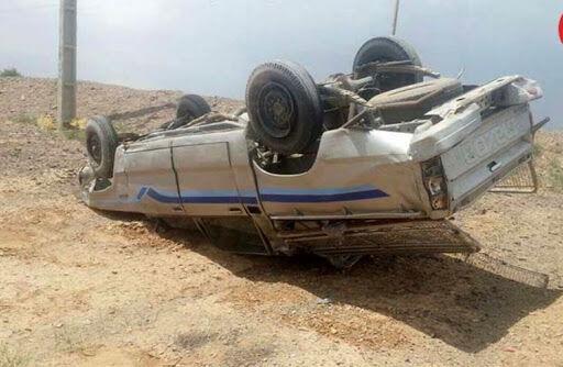 خبرنگاران واژگونی خودرو در نجف آباد یک کشته و 4 مصدوم بر جا گذاشت